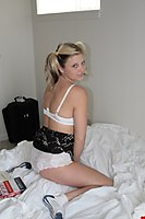 Recent Amy Pictures Of Her In Pigtails And White Panties - Picture 1